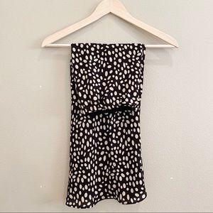 Leopard Slip Skirt Small